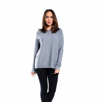 Back Button Ribbed Jumper