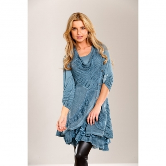 Buttoned Wool Twin-Set