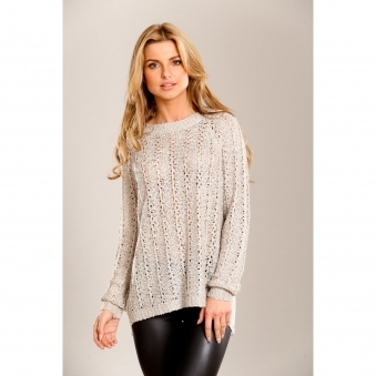 Cross Back Jumper with Sequin Detail