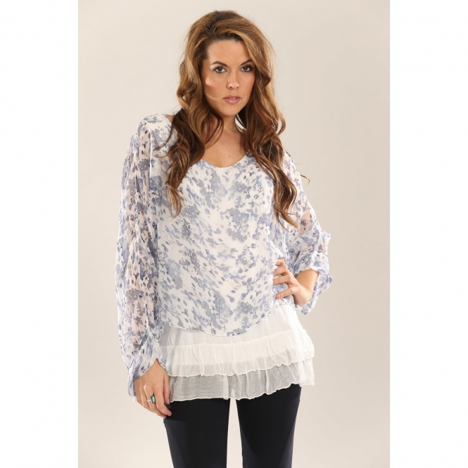 Floaty Floral Silk Top