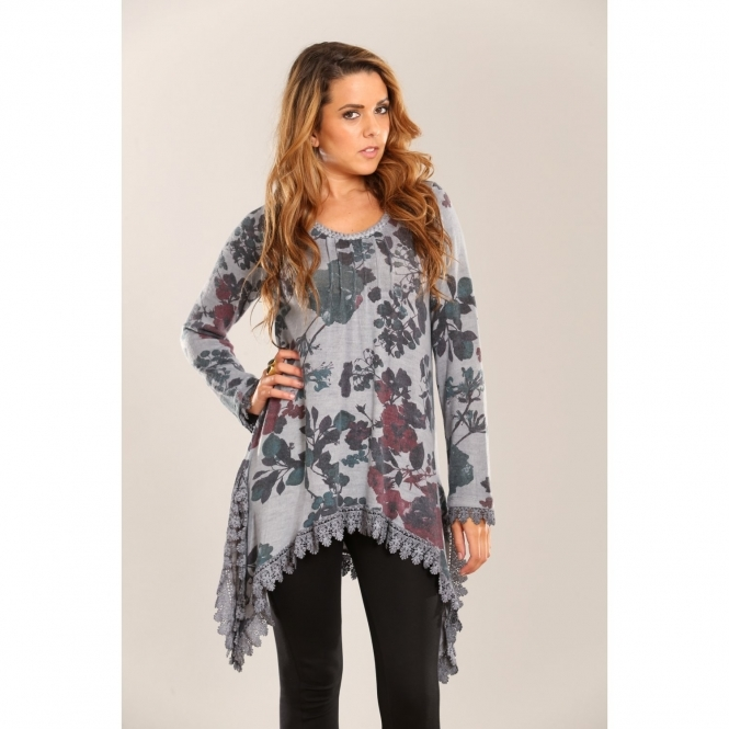 Floral Top with Lace Detail