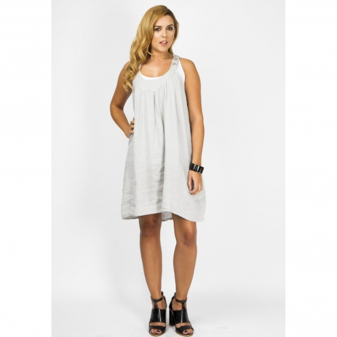 Linen Racer Back Dress