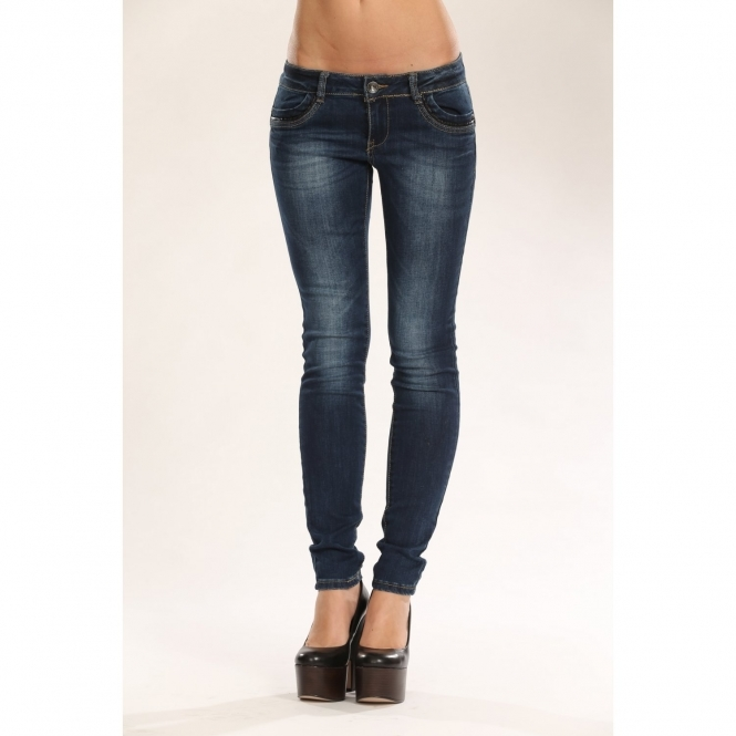 Low Rise Faded Skinny Jeans