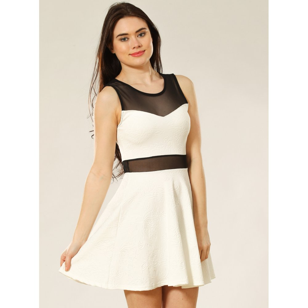 90a77c0c4763 Mesh Insert Skater Dress - Dresses from Miss Sugar UK
