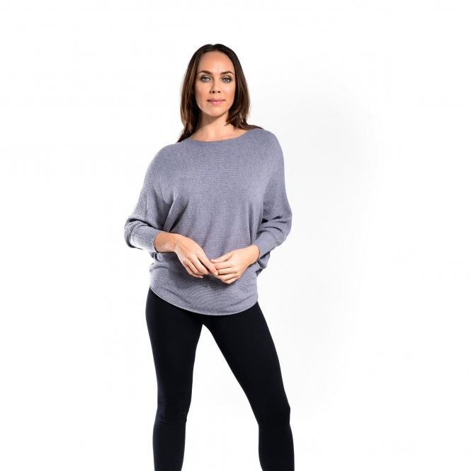 Ribbed Batwing Top