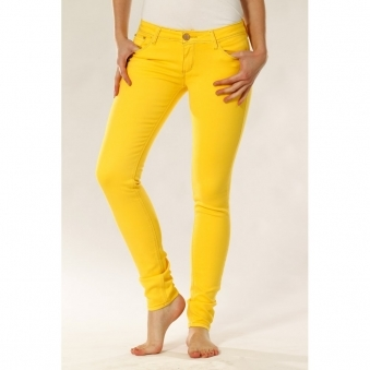 Skinny Jeans In Yellow