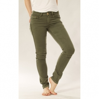 Skinny Jeans with Outseam Leather Detail