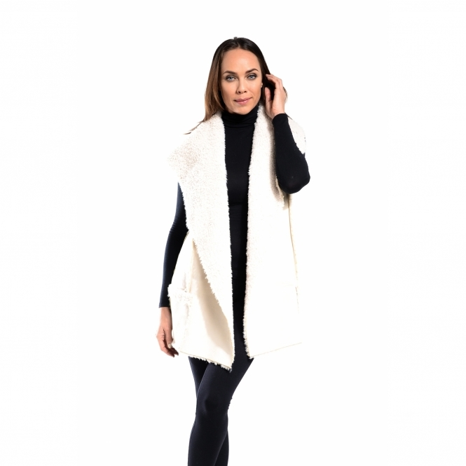 Sleeveless Shearling Coat