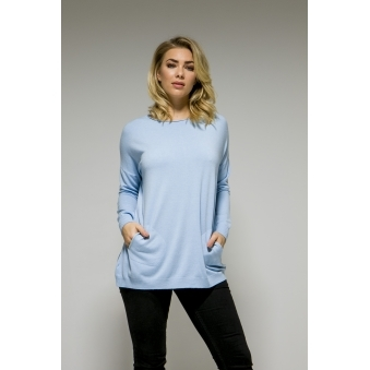 Two Pocket Back Button Jumper
