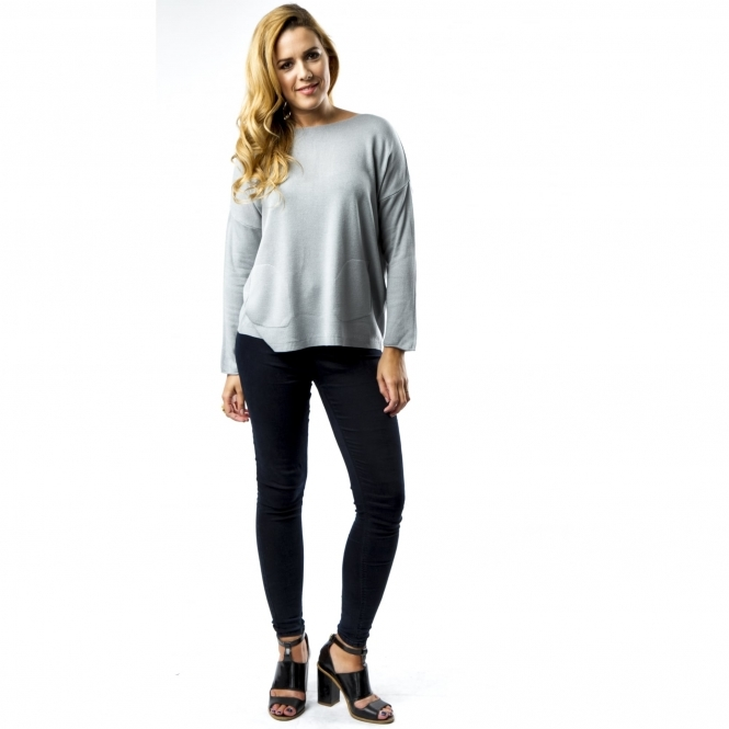 Two-Pocket Fine Knit Jumper